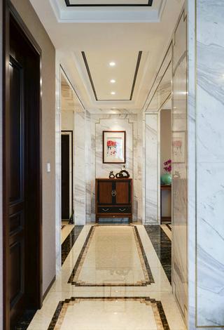 新中式风格别墅走廊装修效果图
