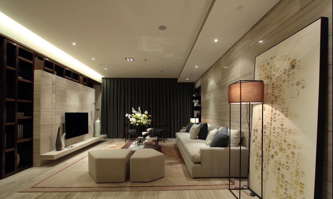 大户型样板间客厅装修效果图