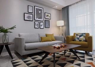 120平三居室北欧风装修效果图