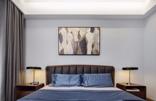 素雅北欧风格三居床头背景墙装修效果图