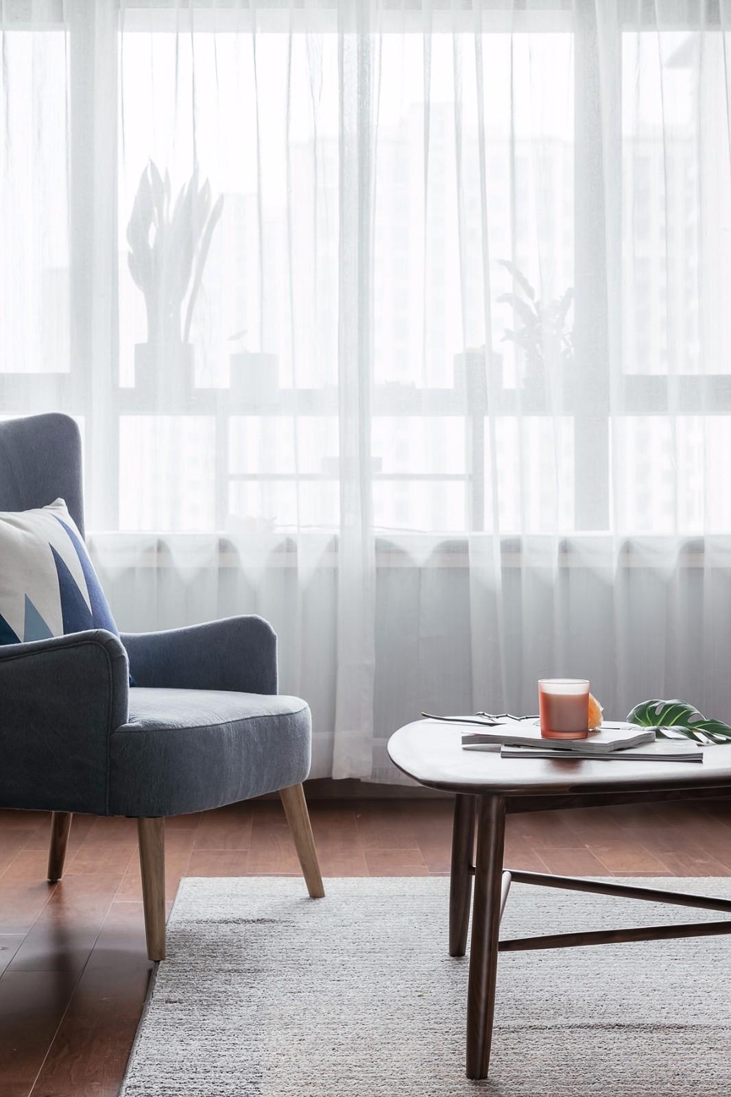 140平米北欧风装修窗帘设计图