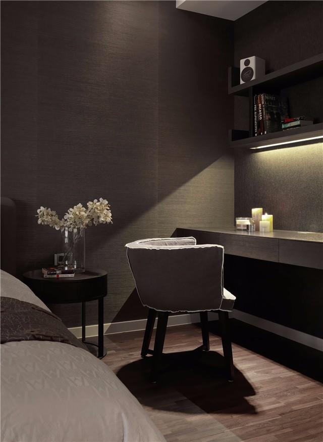 150平简约现代风格装修卧室一角