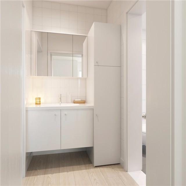 一居室小户型简约风洗手台装修效果图