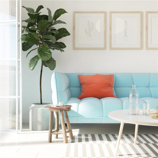 一居室小户型简约风装修沙发设计图