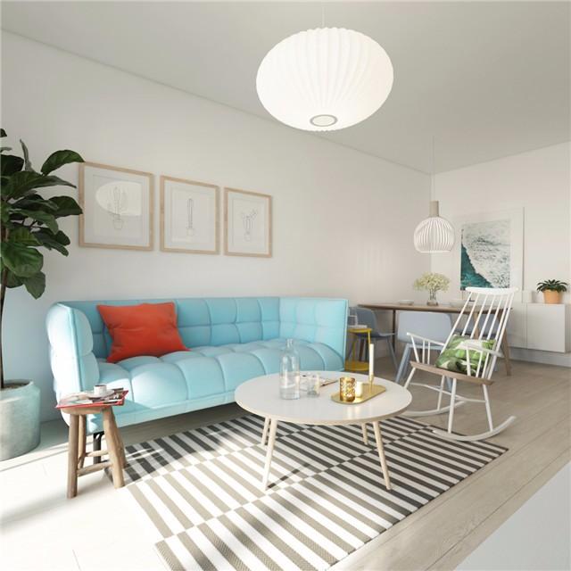 一居室小户型简约风客厅装修效果图