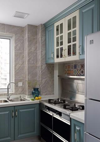 120㎡美式混搭厨房装修效果图