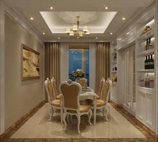 欧式风格三居餐厅装修效果图