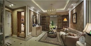 130平欧式风格客厅装修效果图