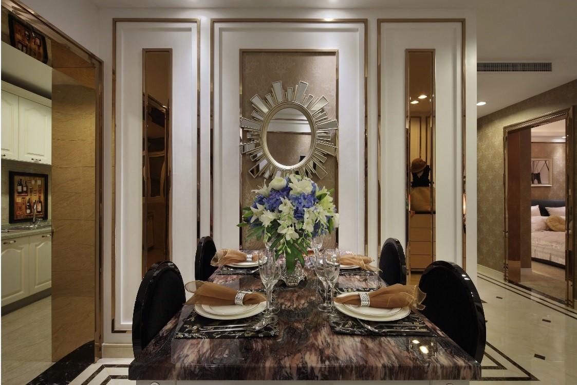 130平欧式风格餐厅装修效果图