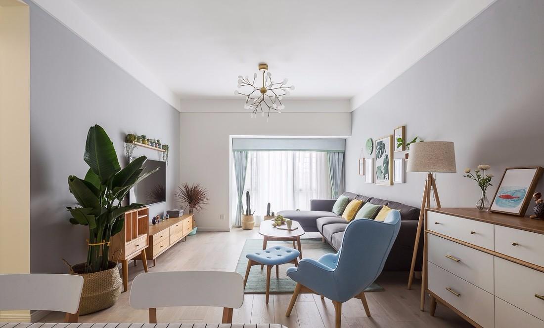 北欧风格二居室客厅装修效果图