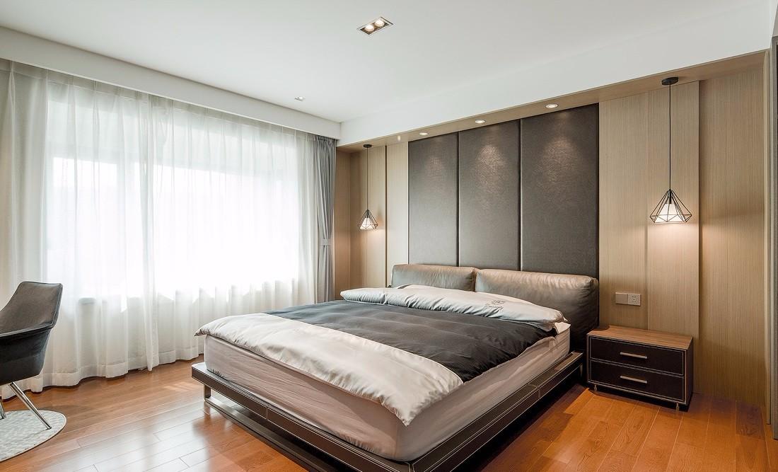 三居室现代风卧室装修效果图