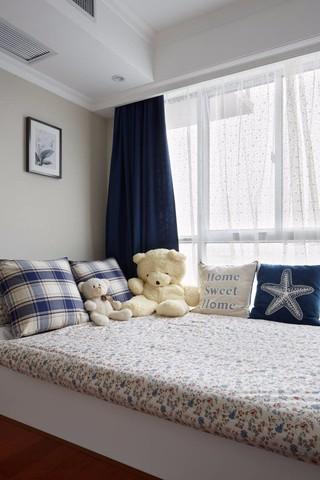 三居室现代美式风格飘窗装修效果图