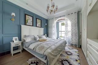 135平休闲美式风卧室装修效果图