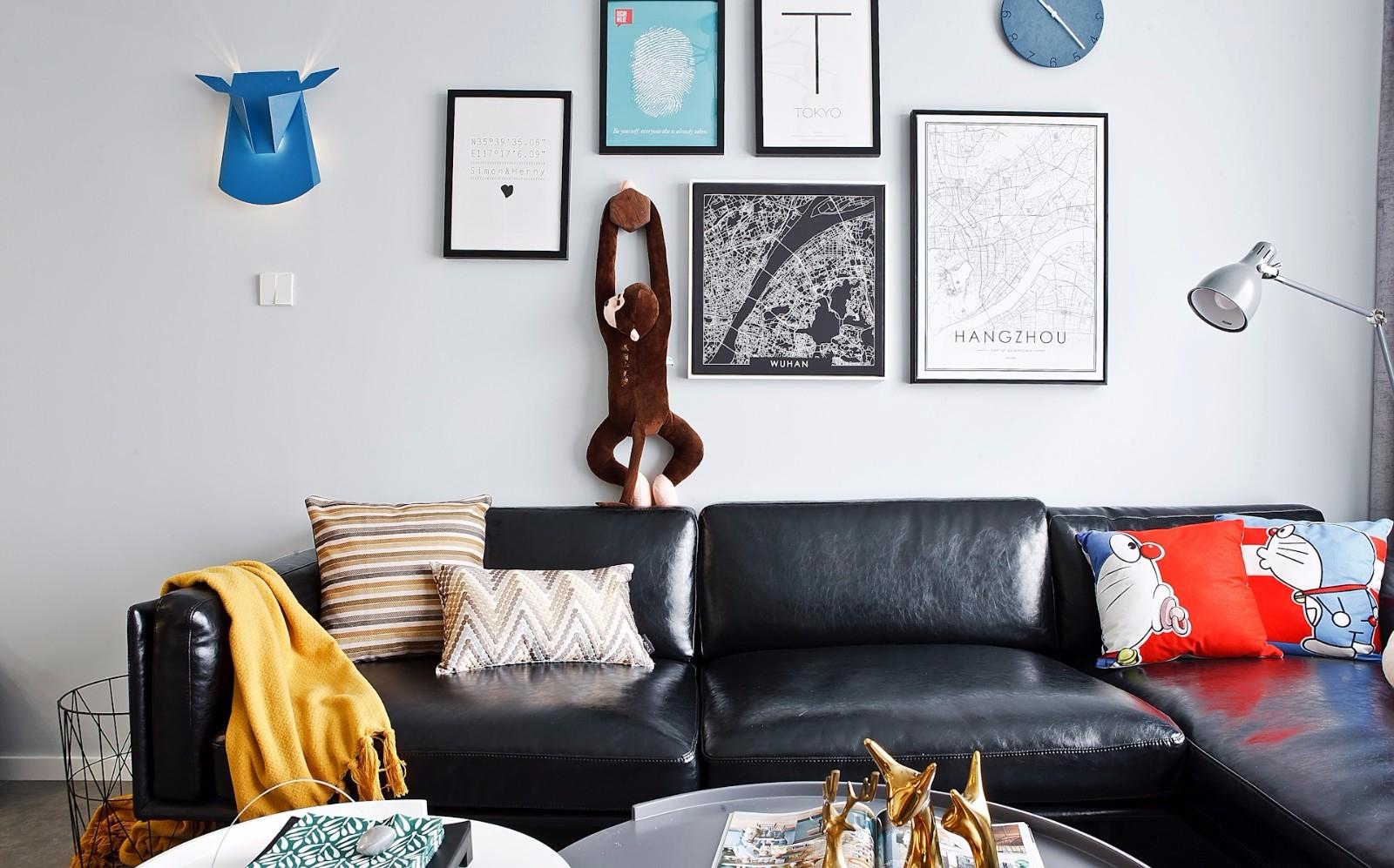 二居室北欧风格装修沙发布置图
