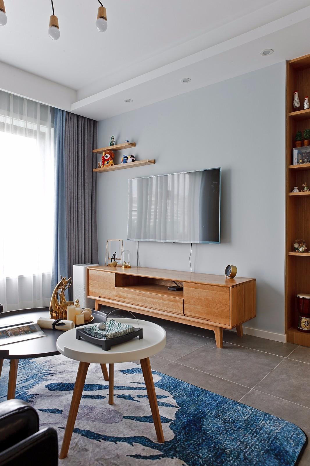 二居室北欧风格电视背景墙装修效果图