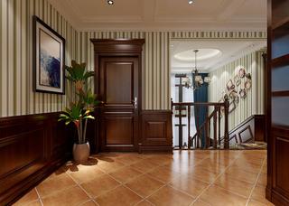 复式古典美式风格楼梯装修效果图