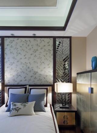 三居室新中式风格卧室装修效果图