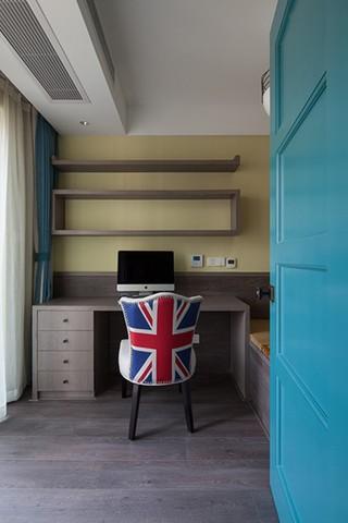 三居室混搭风格书房装修效果图