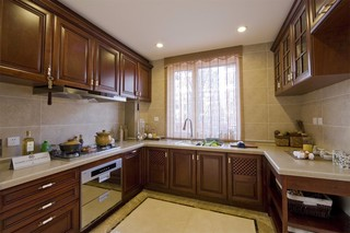 136㎡新中式三居厨房装修效果图