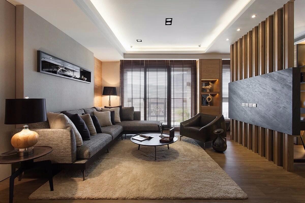 110平米现代风格客厅装修效果图