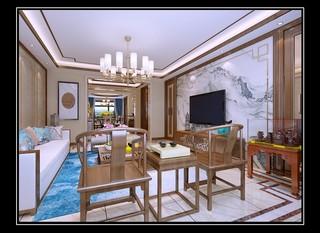 175平新中式风格客厅装修效果图