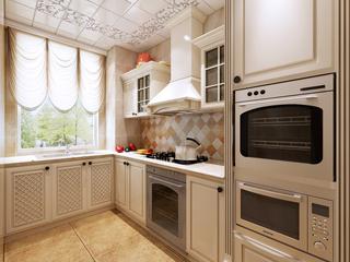 125平米美式风格厨房装修效果图