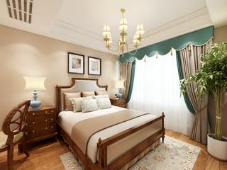125平米美式风格卧室装修效果图