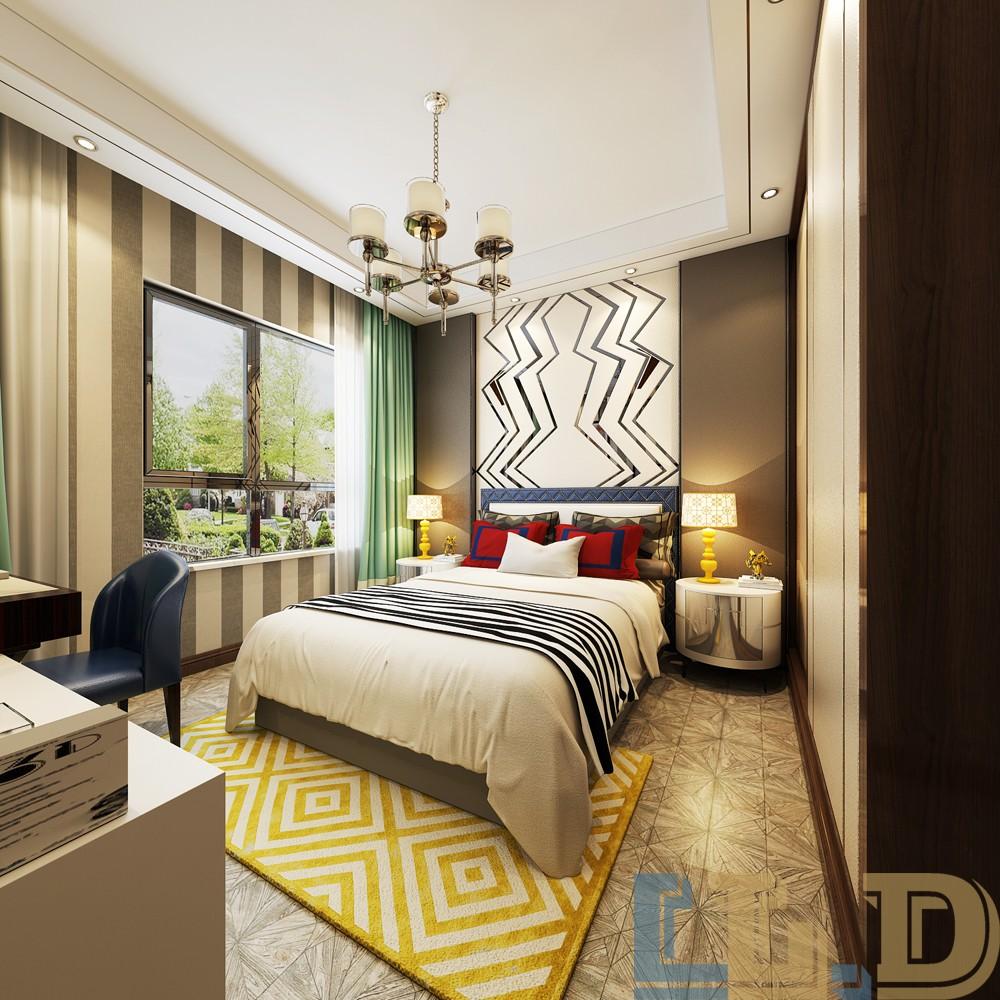 奢华新中式风格卧室装修效果图