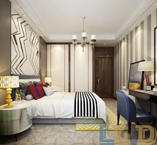 奢华新中式风格卧室每日首存送20