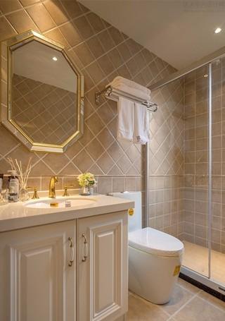 美式风三居室卫生间装修效果图