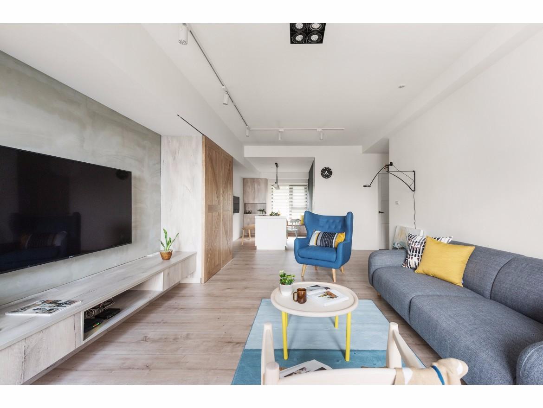 115平北欧风三居客厅装修效果图