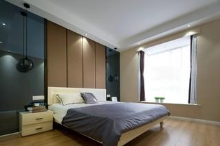 130平现代简约卧室装修效果图