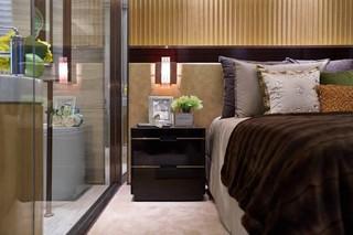 现代奢华大户型装修床头柜设计图