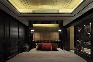 黑色調后現代風格臥室裝修效果圖