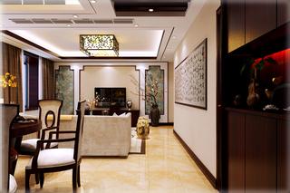130㎡新中式客厅过道装修效果图