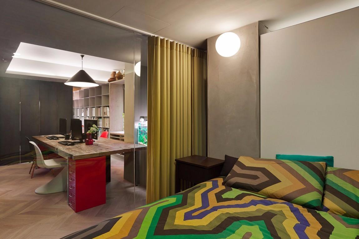 混搭风格公寓卧室装修效果图