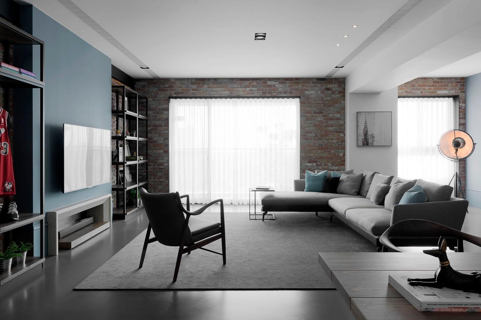 三居室北欧风客厅装修效果图