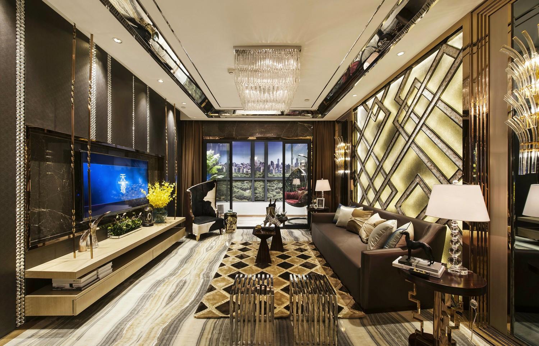 现代奢华四居室装修效果图