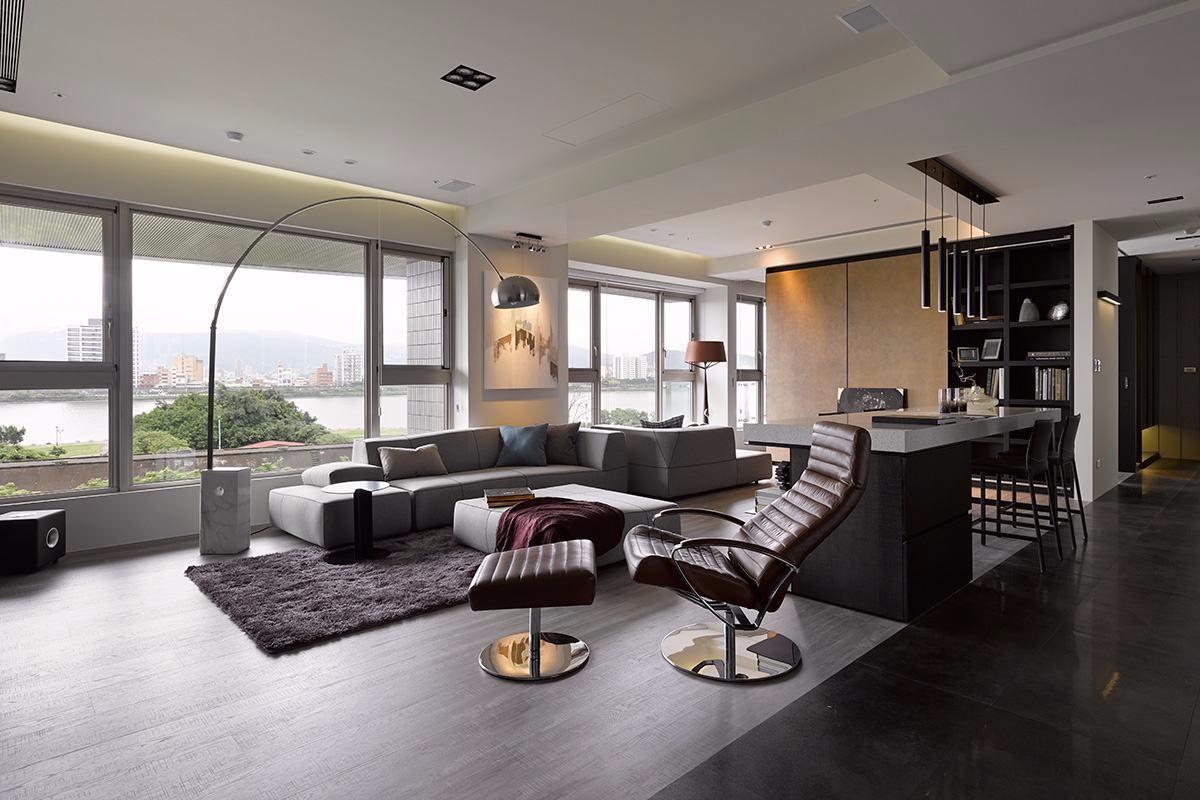 165㎡现代简约风格客厅装修效果图