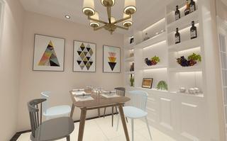 120平简约风格餐厅装修效果图