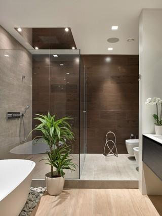 70平现代风公寓卫生间装修效果图
