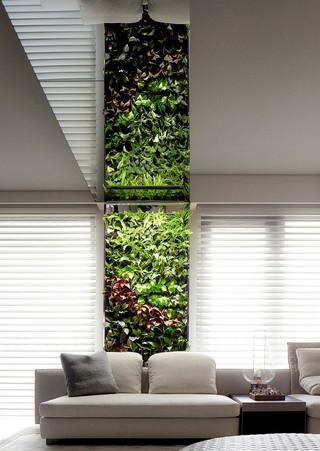 大户型现代简约风格绿植墙装修效果图