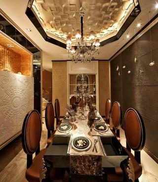 豪华欧式风格餐厅别墅装修效果图