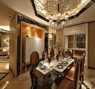 豪华欧式风格别墅餐厅装修效果图