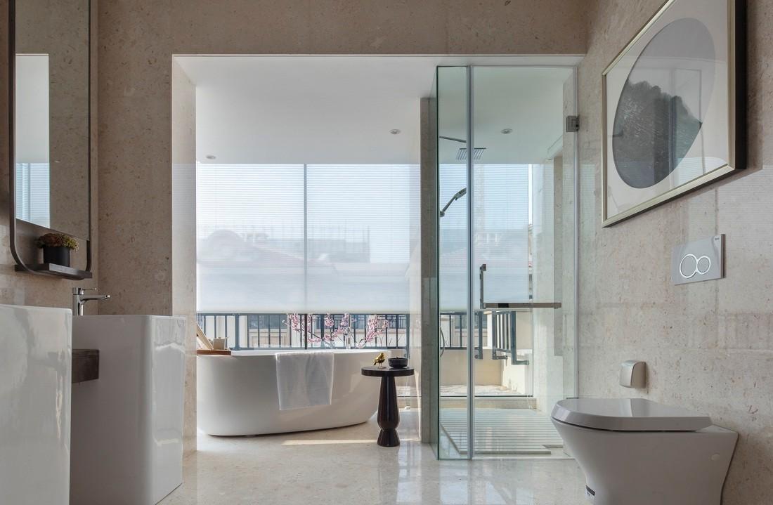 新中式风格别墅卫生间装修效果图