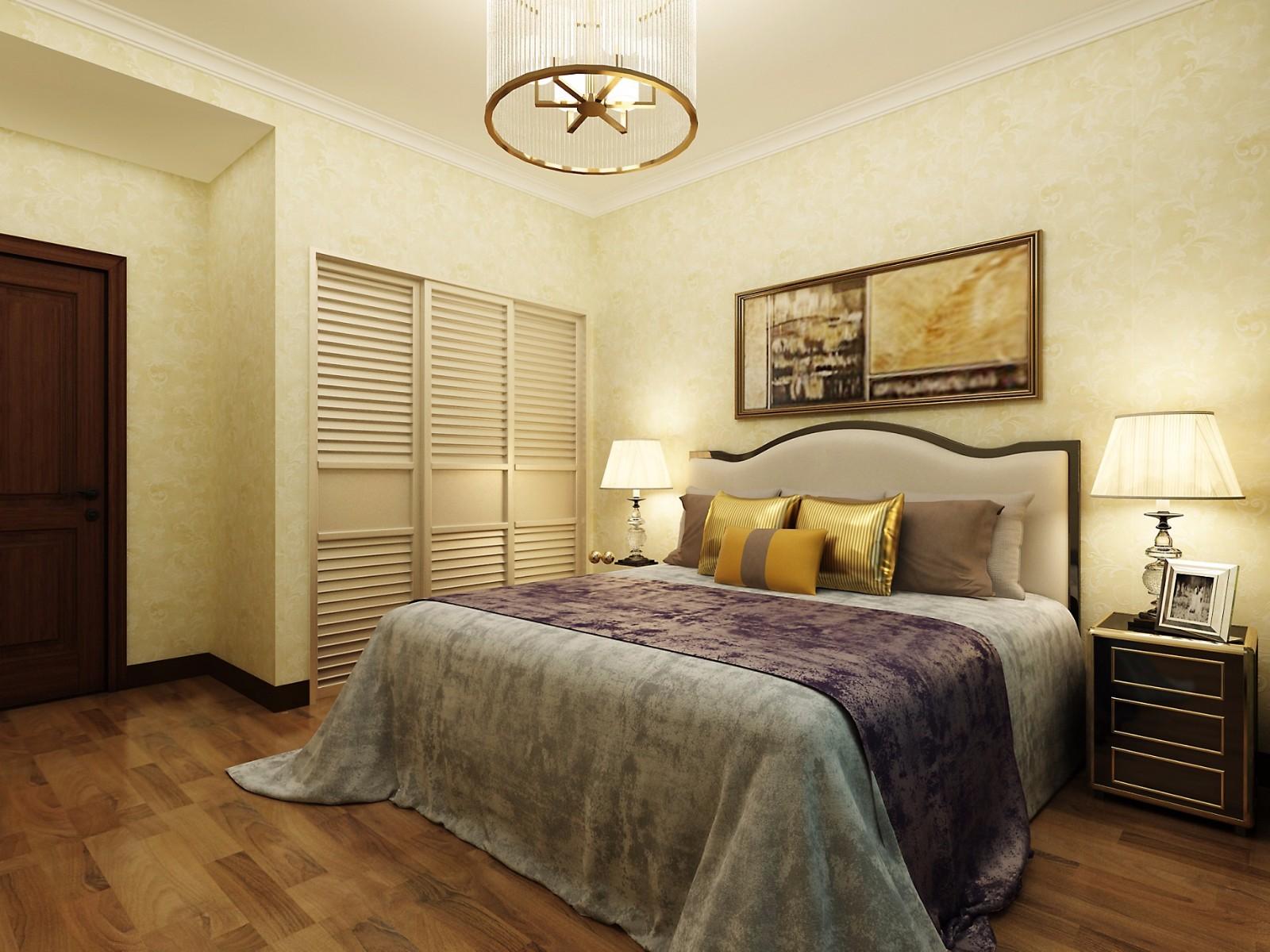 112平米混搭風格臥室裝修效果圖