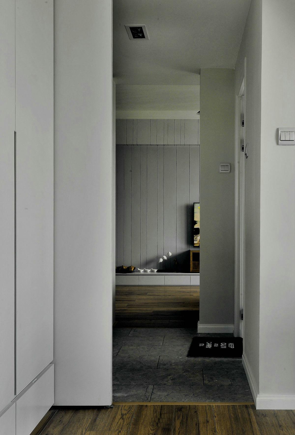 黑白灰现代风格过道装修效果图
