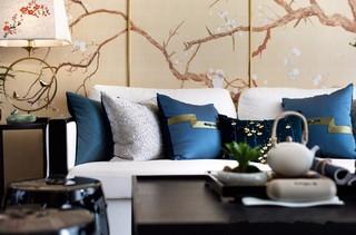 新中式风格三居装修沙发布置图