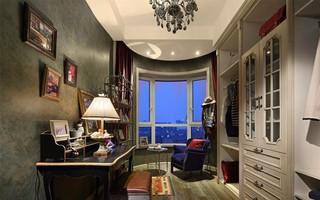 欧美风情三居书房装修效果图