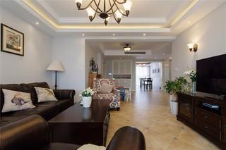135平米美式风格客厅装修效果图